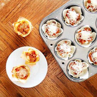 Wonton Mini Lasagna cups