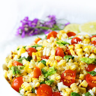 Grilled Corn, Tomato & Avocado Salad.