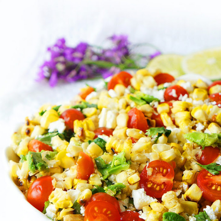 Grilled Corn, Tomato & Avocado Salad