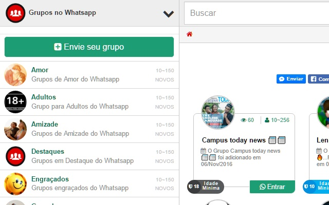 Extensão Chrome links para grupos no whatsapp