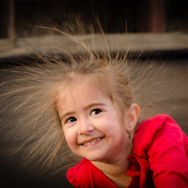 red joy by Gabi Radoi - Babies & Children Child Portraits ( girl, red, happy, joy, smile,  )