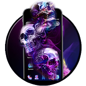 Neon Colourful Skull Theme