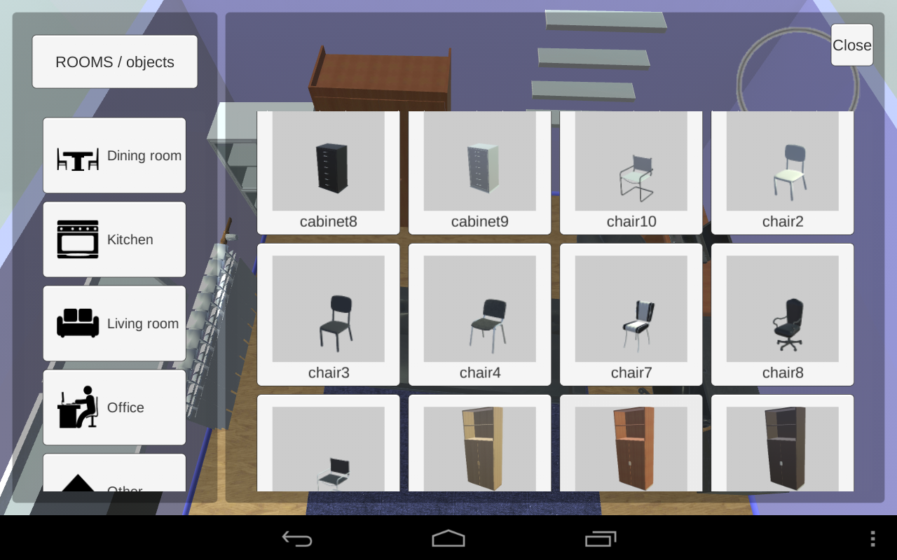 Interior design your house - Room Creator Interior Design Screenshot