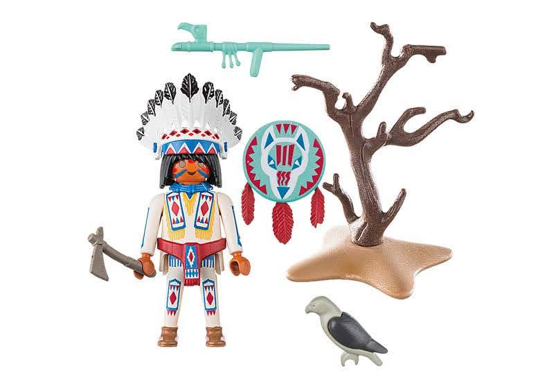 Contenido Real de Playmobil® 70062 Jefe Nativo Americano