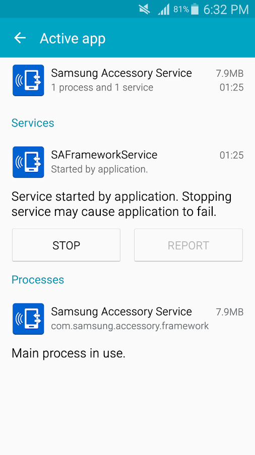 Samsung Accessory Service- screenshot