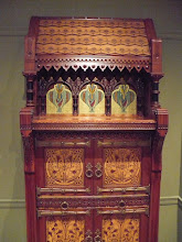 Photo: Cabinet attributed to Daniel Pabst (1826-1910). Philadelphia, Mid-Atlantic, Pennsylvania. American. Walnut, maple, white pine, glass. http://www.metmuseum.org/Collections/search-the-collections/10001120