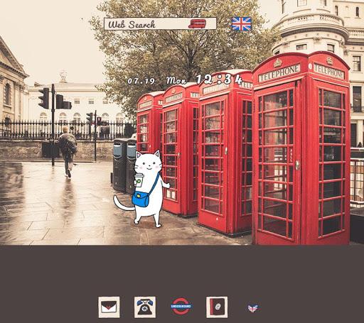 ロンドンの街角 壁紙きせかえ