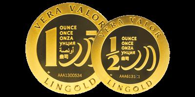 Vera Valor, pièce d'une once d'or