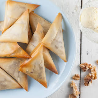 Date And Walnut Filo Pastries.