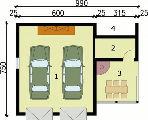 G64 - Rzut garażu