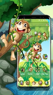 The Cute Cartoon Monkey Theme - náhled