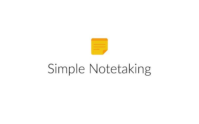 Simple Notetaking