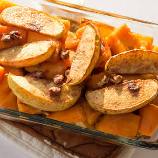 Cinnamon Apple Yam Bake With Pecans.