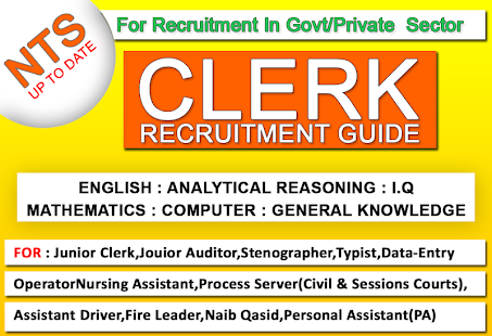 New NTS Clerk Guide English Latest:MCQs & GKLatest for PC-Windows 7,8,10 and Mac apk screenshot 1