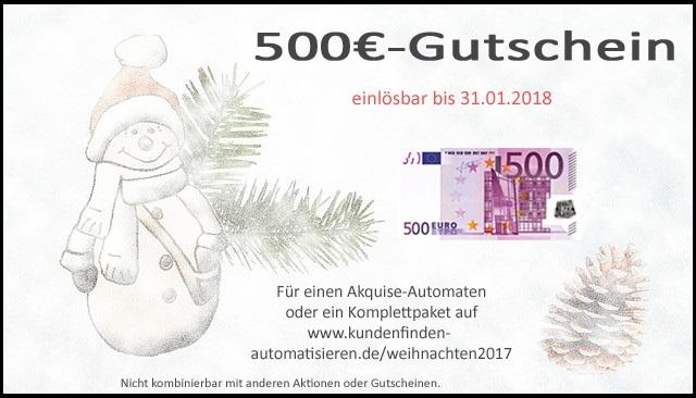 500€ Gutschein Akquise-Automat