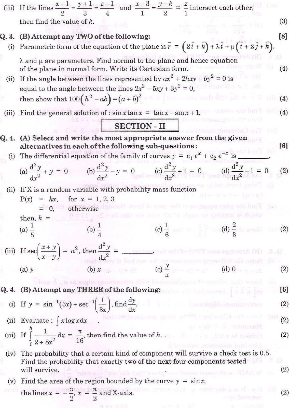 maths hsc paper 2014-hsc.co.in