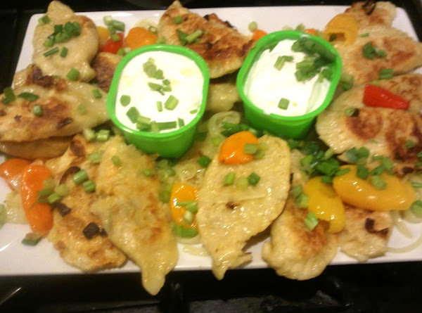 Potato Pierogis W/onion, Chse-bac & Swt Peppers Recipe