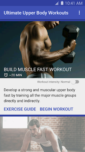Ultimate Upper Body Workouts Fitness app screenshot 1 for Android