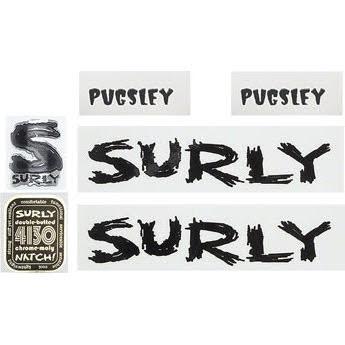 Surly Pugsley Frame Decal Set - Black