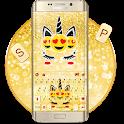 Golden Unicorn Emoji Keyboard Theme icon