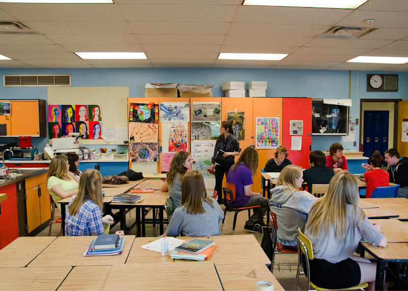 Photo: Martin fulfilled her student teaching requirement at Oswego High School in Oswego, N.Y.