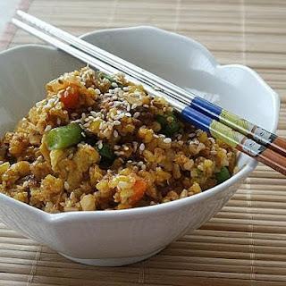 Sardines Fried Brown Rice (沙丁鱼炒糙米饭)