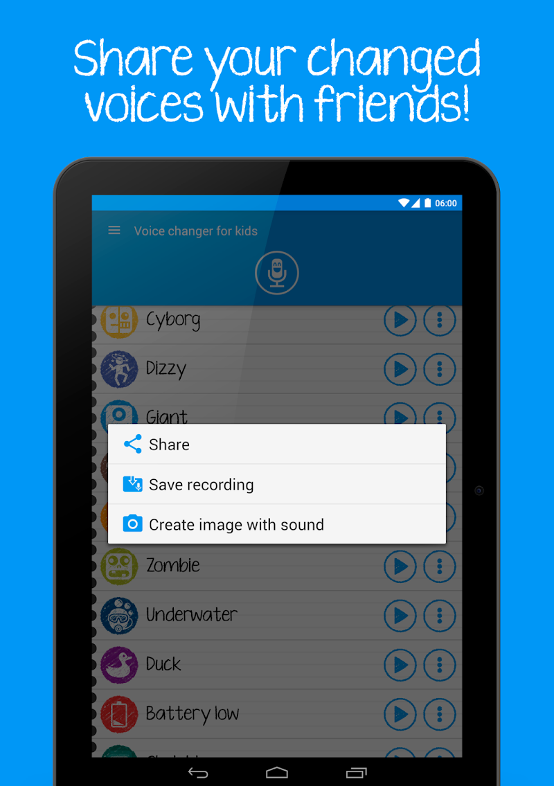 Voice changer for kids and families Screenshot 16