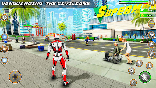 Speed Robot Game u2013 Miami Crime City Battle 2.4 Screenshots 6