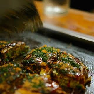 Osaka-style Cabbage Pancakes (okonomiyaki).