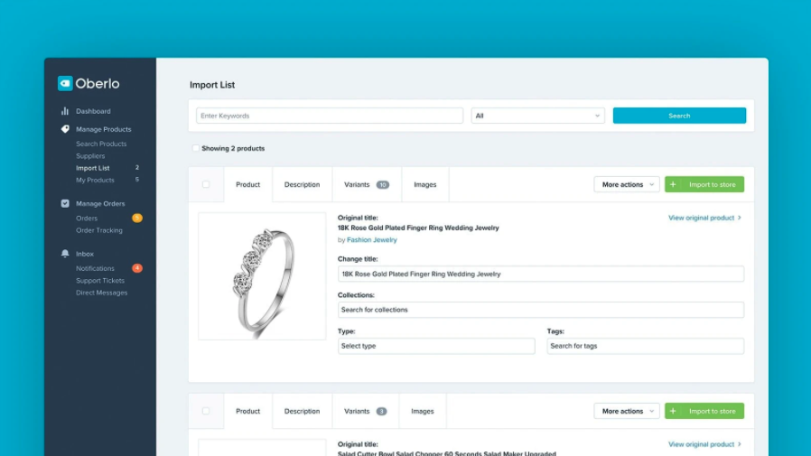 Shopify product editor