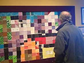 Photo: James at the Quilt Board