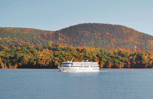 Independence-on-Hudson.jpg - Enjoy sweeping views and pretty fall foliage on a sailing up the Hudson River on the Independence from American Cruise Lines.