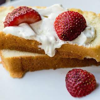 Sugar Free Brown Butter Pound Cake.
