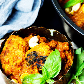 Sweet Potato and Mince Chicken Meat Ball Curry Recipe