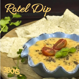 Rotel Dip with Hamburger Meat.