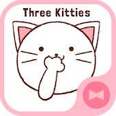 Wallpaper Three Kitties Theme