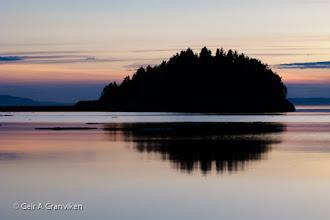Photo: Calm evening on Trondheimsfjorden, outside Stjørdal