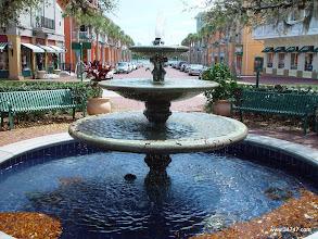 Photo: Fountain, Market Square, Town Center, Celebration, FL