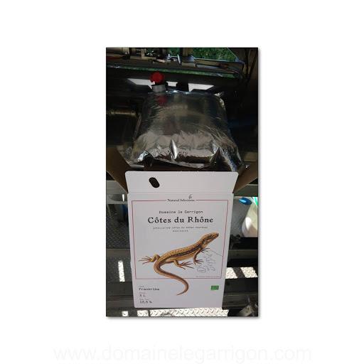 Le Côtes du Rhône se prépare, et les Bag In Box se parent d'un lézard