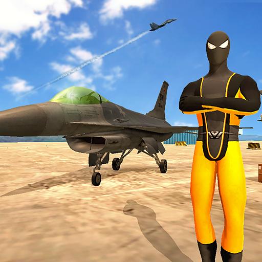 Spider Air Fighter - Superhero Warplanes Battle