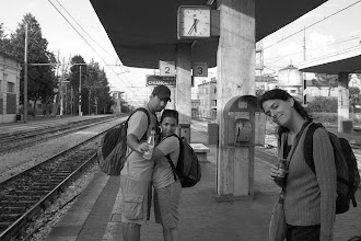 Photo: Waiting for our train in Chiusi, Italy on the way to Rome, italy