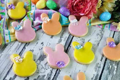 """Ole Fashioned Iced Easter Bunny Cookies """"They are great for all sorts..."""
