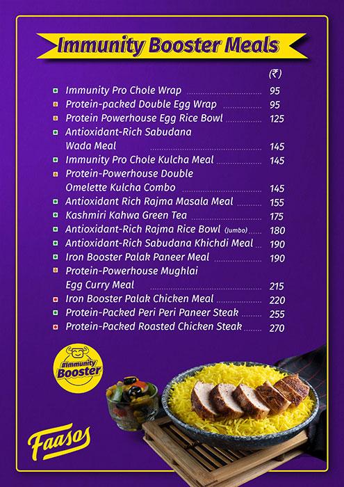 Faasos menu 7