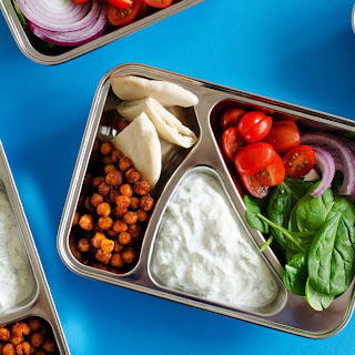 Chickpea Gyro Vegetarian Meal Prep Lunch.
