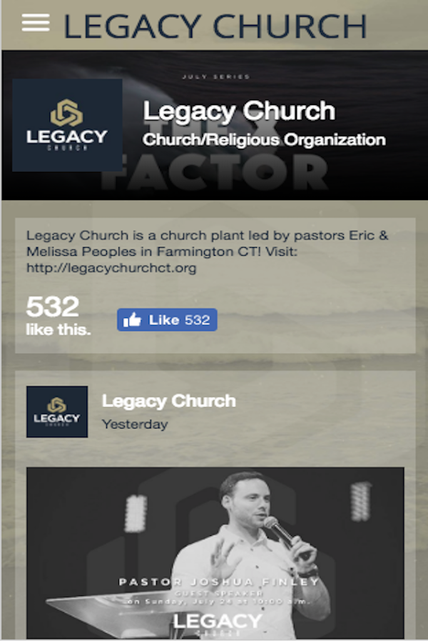 Legacy Church - CT- screenshot