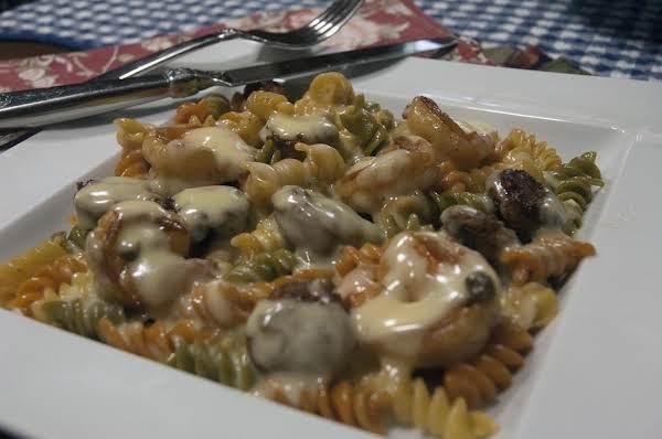 Shrimp  Sausage Pasta With Hollandaise Sauce Recipe