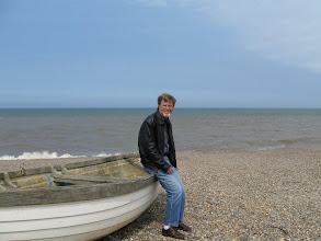 "Photo: Mike on the ""shingle beach"" at Wymondham."