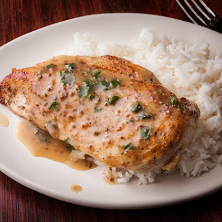 Baked Chicken Breasts with Mustard Sauce