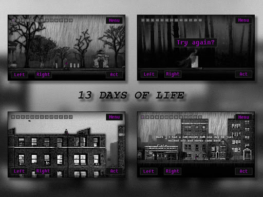 13 DAYS OF LIFE game for Android screenshot