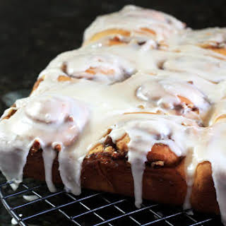 Make-Ahead Cinnamon Rolls With Cream Cheese Icing.